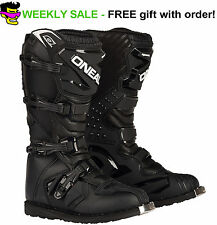 Size 10 Black O'neal Rider Motocross Dirt Bike Boots MX Off Road Racing Mens