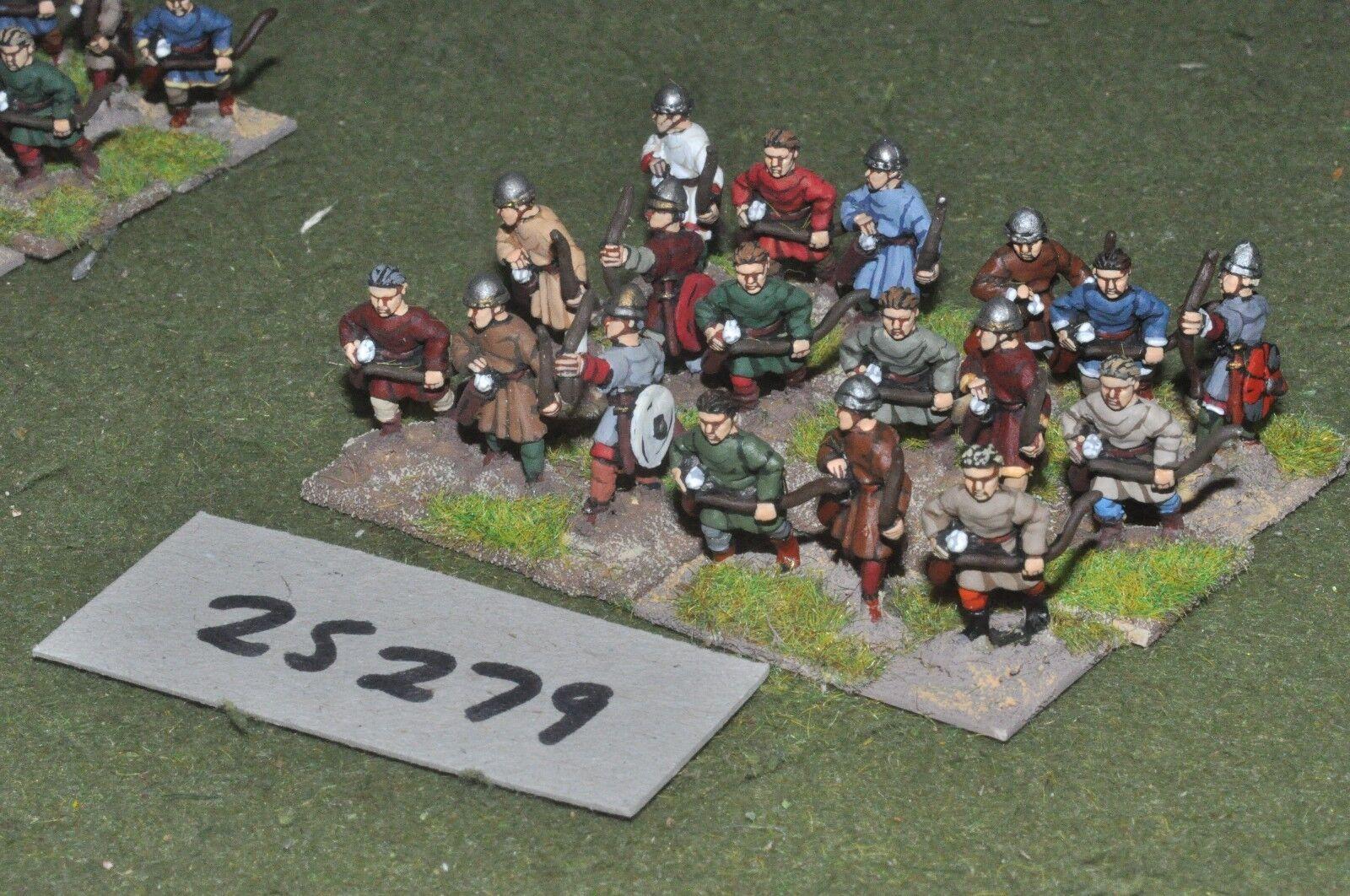 20mm medieval   crusader - longbowmen 18 figures - inf (25279)