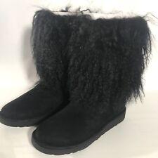 7614debff73 UGG Lida Mongolian Sheepskin Cuff Natural Suede Classic BOOTS Size 9 ...