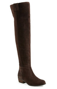 NEW-Sam-Edelman-Johanna-Over-the-Knee-Espresso-Brown-Suede-Leather-Boot-Size-6
