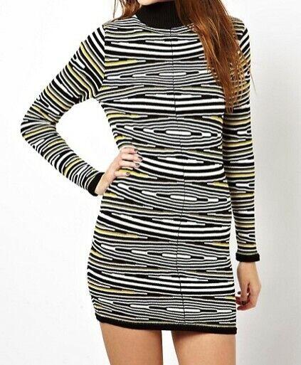 Damen Kleid von ASOS Größe 40 gestreift 100% Baumwolle NEU