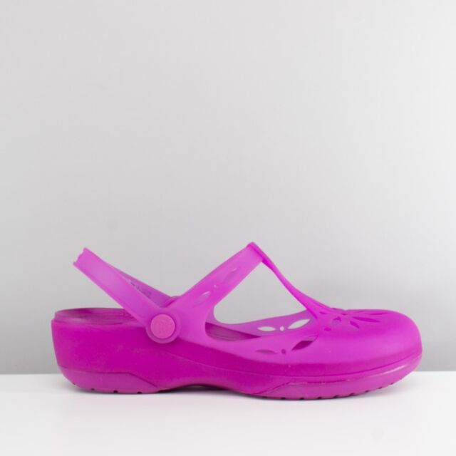 27b4cc2699dbd Crocs CARLIE CUT OUT Ladies Womens TPU Soft Comfort Clog Vibrant Violet Pink