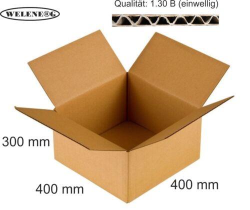 80 Faltkartons 400x400x300mm B-410g//m2  Versandkarton Falt Kartons BRAUN