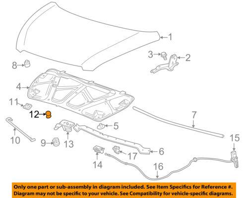 Chevrolet GM OEM 13-15 Spark Hood-Support Prop Rod Holder Clip Clamp 95996108