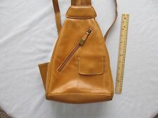 Aurielle Brown Leather BackPack Sling bag Purse Great For Travel Pockets Zip