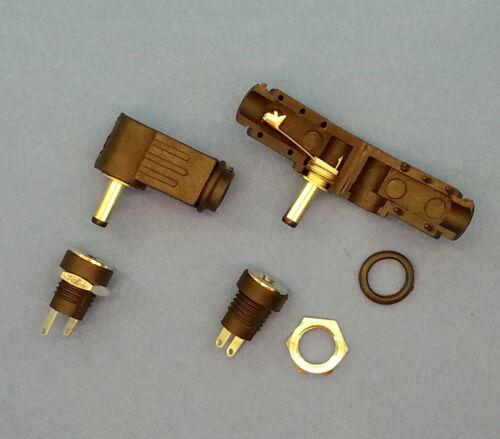 plugz2go passende 3.5mm L-Form DC-Stecker /& Buchse Schalttafeleinbau