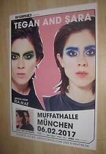 Tegan & Sara Tourplakat/Tourposter 2017 -Muffathalle München