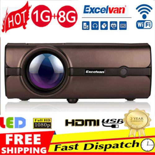 Excelvan 5000 lumens LED Heimkino Beamer Projektor 1080P HD 3D HDMI VGA USB AV