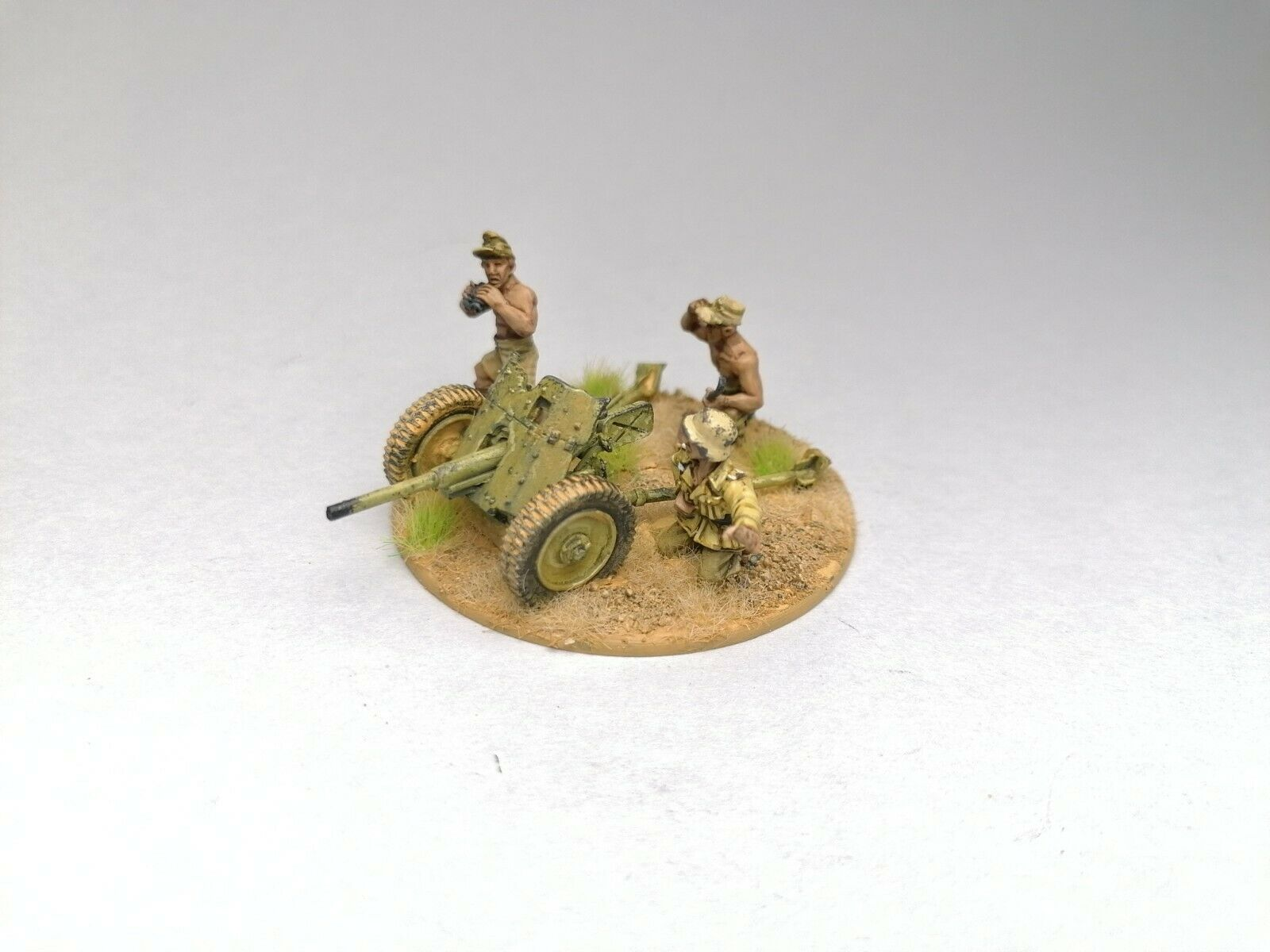 Tysk anti-tankpistol 3.7cm PaK 36 Afrika Korps WWW2 28mm Bolt Action Pro Payed