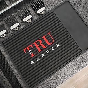 TRU-BARBER-ORGANIZER-MAT-14-X-9-034-BLACK-RED-Flexible-PVC-Station-Mat-Mat-Salon