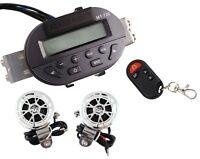 Motorcycle Audio Radio Handlebar Stereo Amplifier Speaker Remote For Honda Vstar
