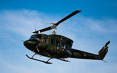 HUEY HELICOPTER MILITARY AIRCRAFT POSTER PRINT 24x36 HI RES 9 MIL PAPER