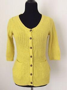 Anthropologie Sparrow Mustard Yellow Cardigan Sweater Small S Ebay