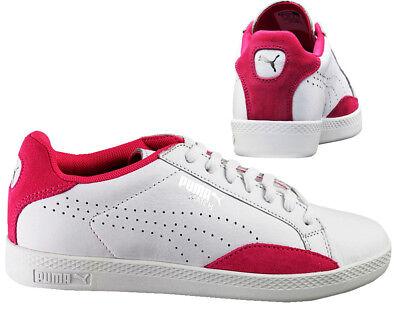 Puma Match lo Basic Sports Bianco Fucsia Donna con Lacci Scarpe 357543 20 B77D | eBay