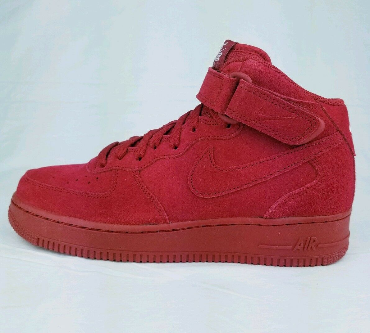 New Nike Air Force 1 Mid '07 AF1 Gym Red October White Suede 315123-609 Sz 8
