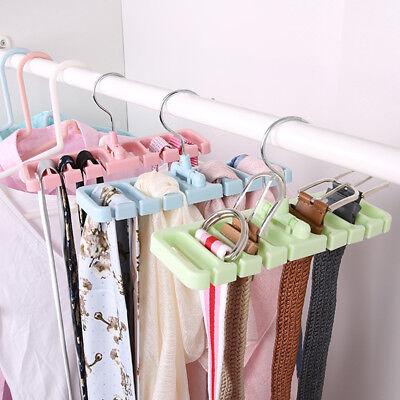 10 Grid Storage Rack Tie Belt Organizer Space Saver Rotating Scarf Ties Hanger Holder Hook Closet Organization Tops Bra Belt Bag