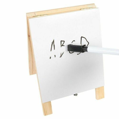 Juvale Double Sided Chalkboard Stand and Dry Erase Sign Dual Tabletop Easel