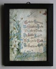 "Göttlicher Haussegen ""Wo Glaube da Liebe"" Hausschutz Friede Segen Holz Rahmen  3"