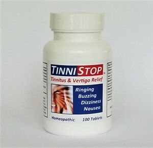 TinniStop Tablets - #1 Best Selling TINNITUS & VERTIGO Relief, Natural Remedy