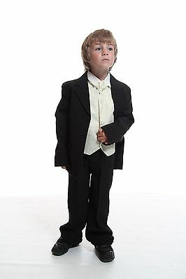 Boys 5 Piece Formal Kids Suit Purple Ideal For Wedding Dinner Dress Age 1-16
