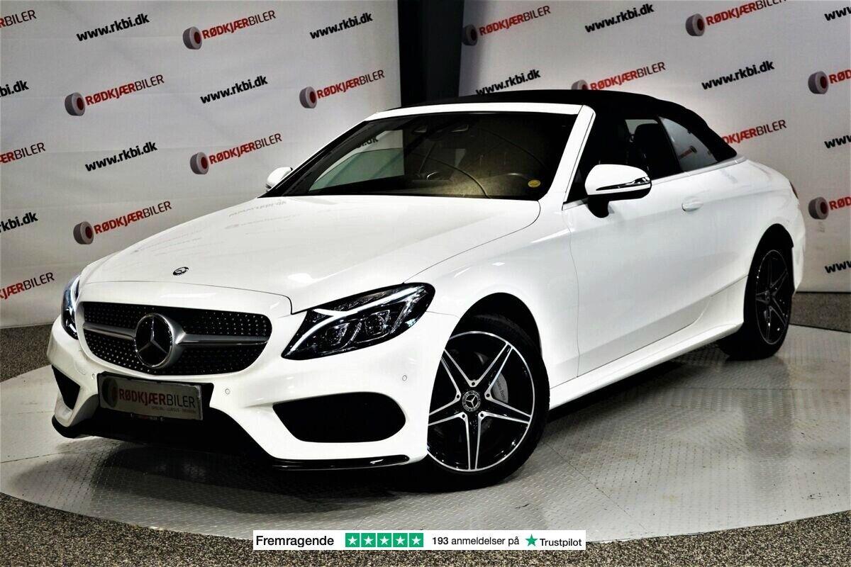 Mercedes C200 2,0 AMG Line Cabriolet aut. 4-M 2d - 4.805 kr.