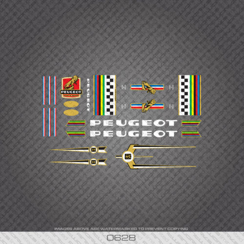 Decals 0628 Peugeot Bicycle Frame Stickers Transfers