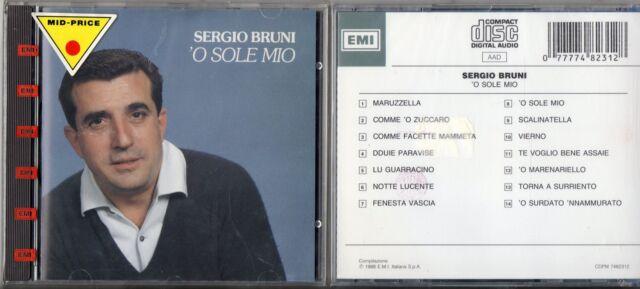 SERGIO BRUNI CD 1988 fuori catalogo 'O SOLE MIO stampa ITALIANA nuovo sigillato