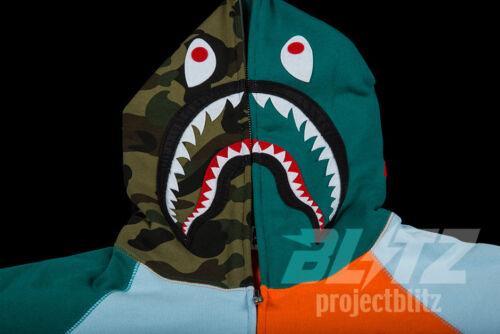 M wintertaling Ss18 L 2xl A Bape hoodie Ape Multi Multi ritssluiting Xl Bathing color met volledige Shark qWg8Sqna