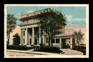 DR JIM STAMPS US MASONIC TEMPLE KNOXVILLE TENNESSEE POSTCARD 1918