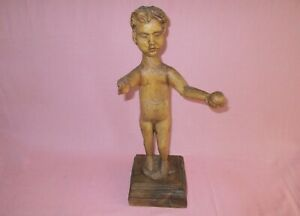 Antique-19th-C-Spanish-Wood-Religious-Santos-Figure-Infant-Jesus-of-Mechelen-21-034