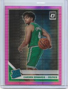 2019-20 Donruss Optic Carsen Edwards Rated Rookie Pink Prizm #196 Boston Celtics