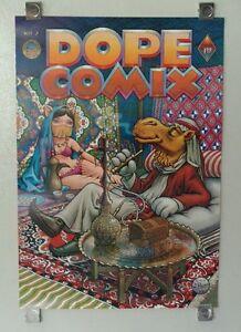 Original 1978 DOPE COMIX Kitchen Sink comics poster 2: Marijuana/Cannabis/1970's
