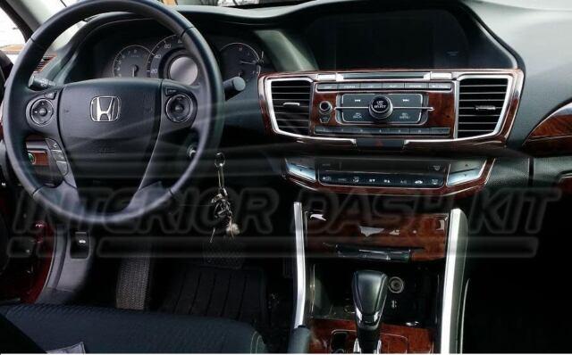 2017 2016 Honda Accord Ex L Sport Interior Wood Dash Trim Kit For Online Ebay