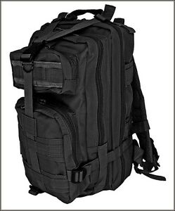 EXCELLENT-QUALITY-MEDIUM-ASSAULT-TACTICAL-BACKPACK-BLACK-COLOR-600-DENIER-FABRIC