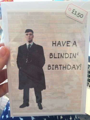 Thomas Shelby Birthday Card Peaky Blinders Tommy Shelby A6 Small Card