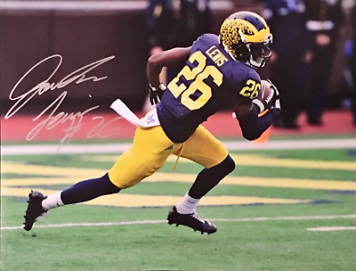 "Sports Mem, Cards & Fan Shop Jourdan Lewis Michigan Wolverines Uofm Signed Photo 16""x20"" W/coa Photos"