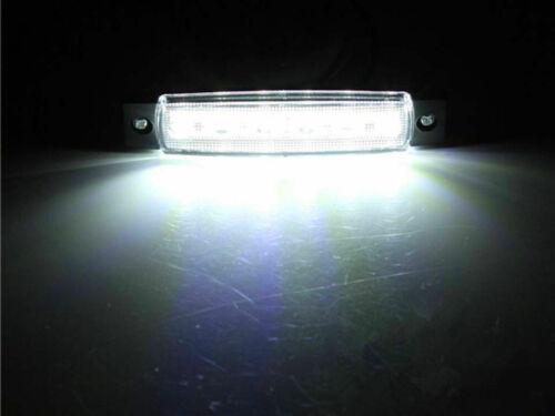 "2X Marine Boat Bow Navigation Light 3.8/"" 6 LED Yacht Deck Spreader Lamp White"