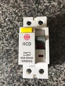 Wylex 63 amp 30 mA WRS63//2 RCD Disjoncteur