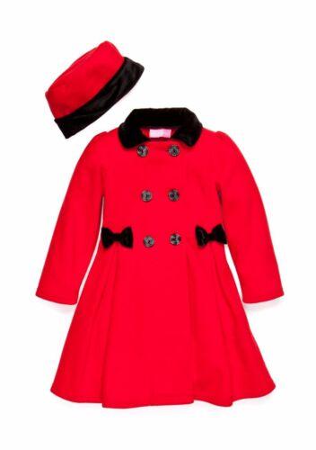 GOOD LAD® Baby Girls/' 12M Fleece Double Breasted Coat /& Hat Set NWT