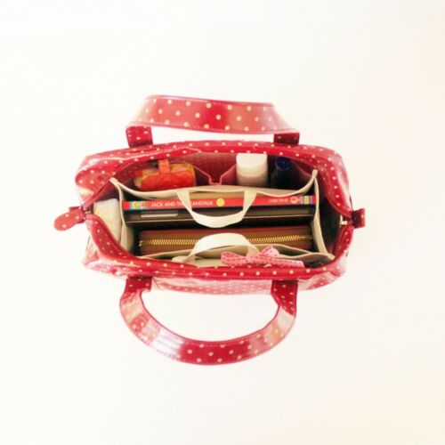 Pink Cream MYLIORA Waterproof Sturdy Bag Purse Organizer w// Keyclip 10 Pockets