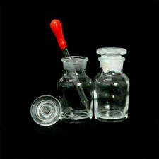 Transparent Wide Mouth Ground Glass Stopper Glass With Drop Reagent Bottle 60ml