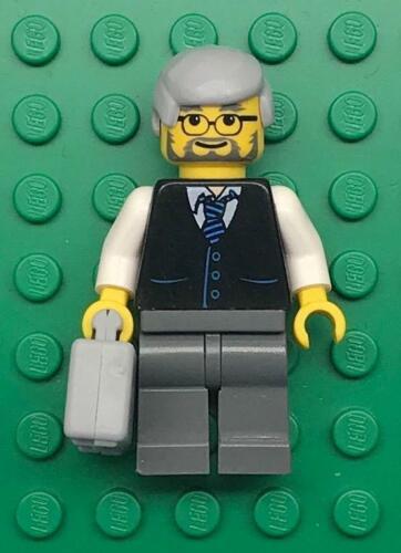 Lego Old Businessman Minifig figure lot town city lawyer black suit vest tuxedo