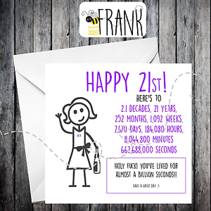 Funny 21st Birthday Cards For Him