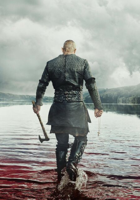 Vikings 4 poster ragnarok print A4 viking season 5 Ragnar Lothbrok quote TV show