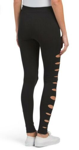Eye Candy Womens SEAMLESS LEGGINGS JOGGERS WITH CUT OUT DETAILS Sz Medium Large