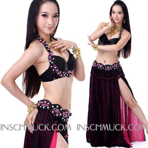 C922-Professional-Belly-Dancing-Costume-2-Pieces-BRA-and-Belt-Tribal-Fusion