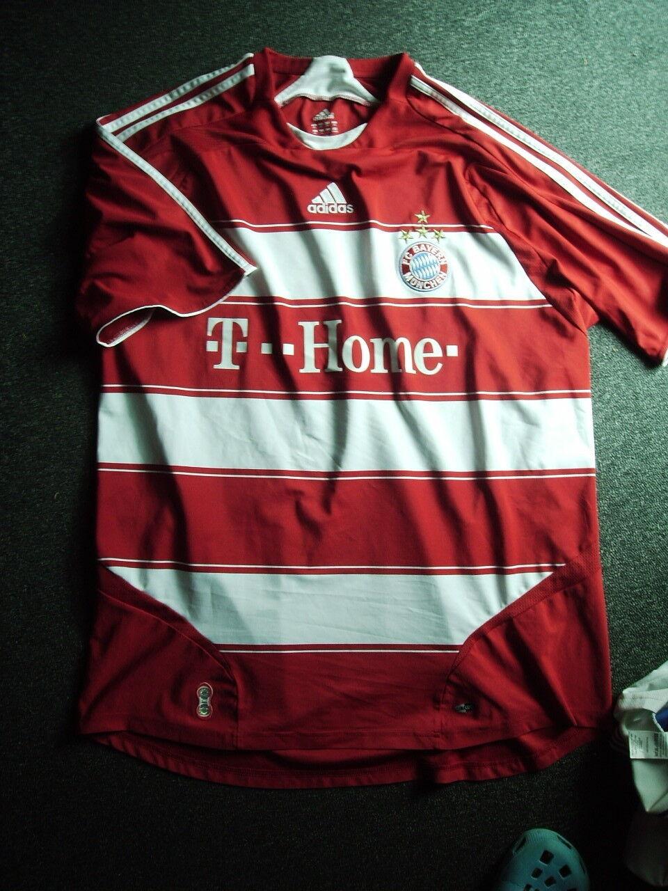 FC Bayern München-Trikot Gr.XXL-T Home-Adidas-Saison 2007-2009