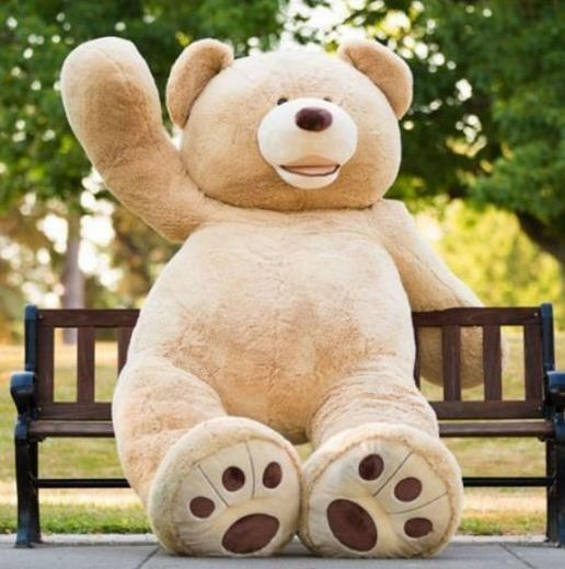 TOP SALE 78'' Huge Giant Big Teddy Bear Plush Soft Toys Life Size Stuffed Animal