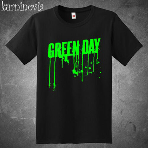 Green Day Green Drip Logo Rock Band Men/'s Black T-Shirt Size S to 3XL