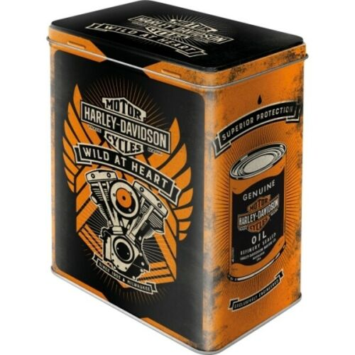 Taille L 2,8 Ltr. Hoard Box! métal Vorratsdose Harley Davidson Moto